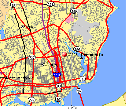 City Of Pensacola Zip Code Map Tlindacolmu Pinterest Zip Code