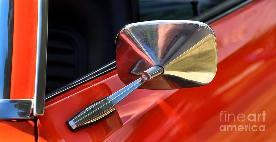 1969 Chevrolet Camaro Rs - Orange - Side Mirror - 7588 Photograph by Gary Gingrich Galleries