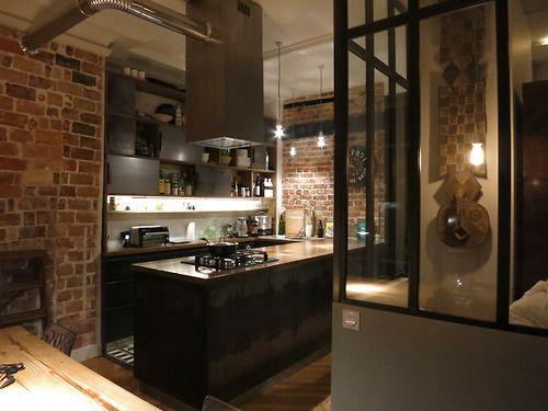 CUISINE ACIER MADRIER BRUN Steelinbox Cuisine Pinterest - Cuisine atypique