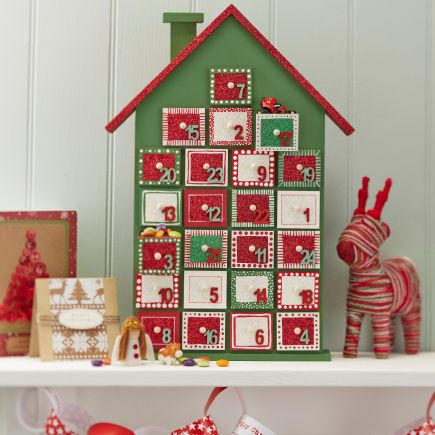 Hobbycraft Wooden Advent House Undecorated
