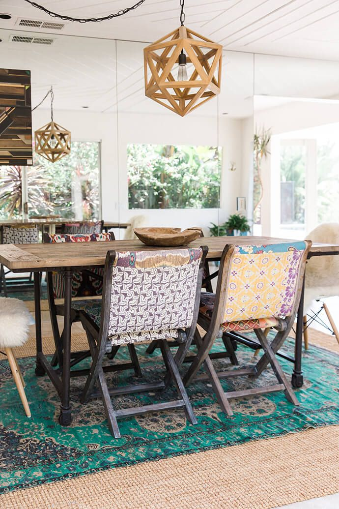 Bohemian Style Dining Rooms: A Serene Bohemian Bungalow