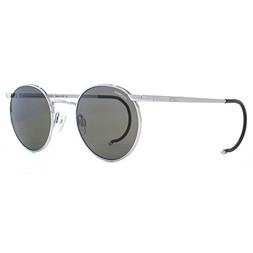 49c6fc818c Randolph Engineering P3 Round Sunglasses in Bright Chrome Grey P3P3711--117