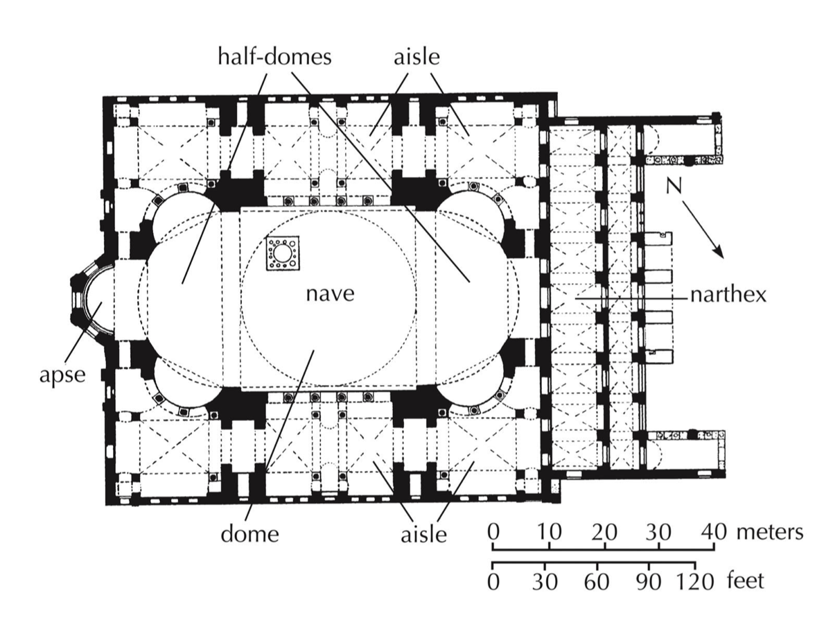 Image Result For Hagia Sophia S Dome Floor Plan Hagia Sophia Architecture History Architectural Floor Plans