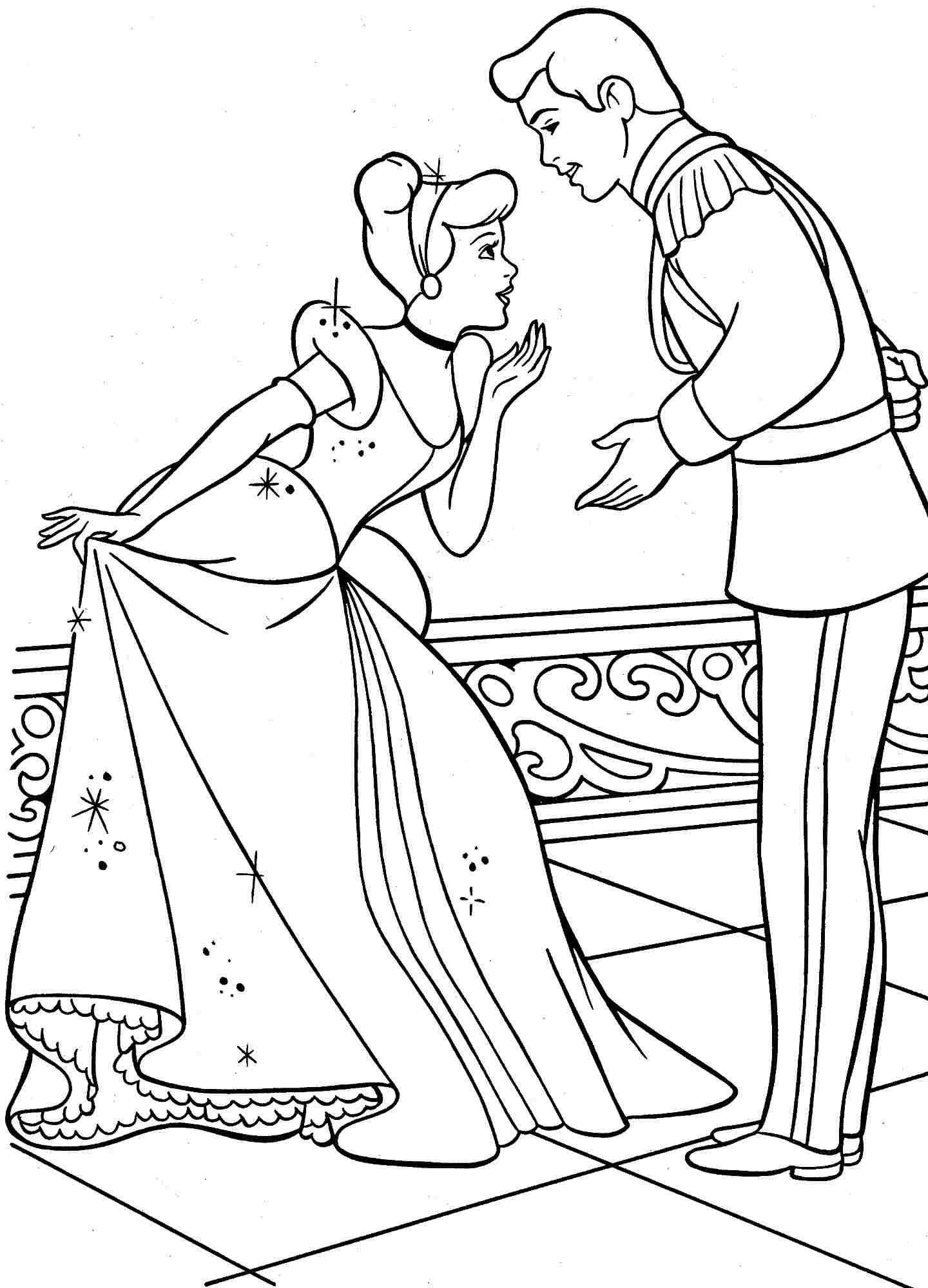 Cinderella Coloring Pages Games