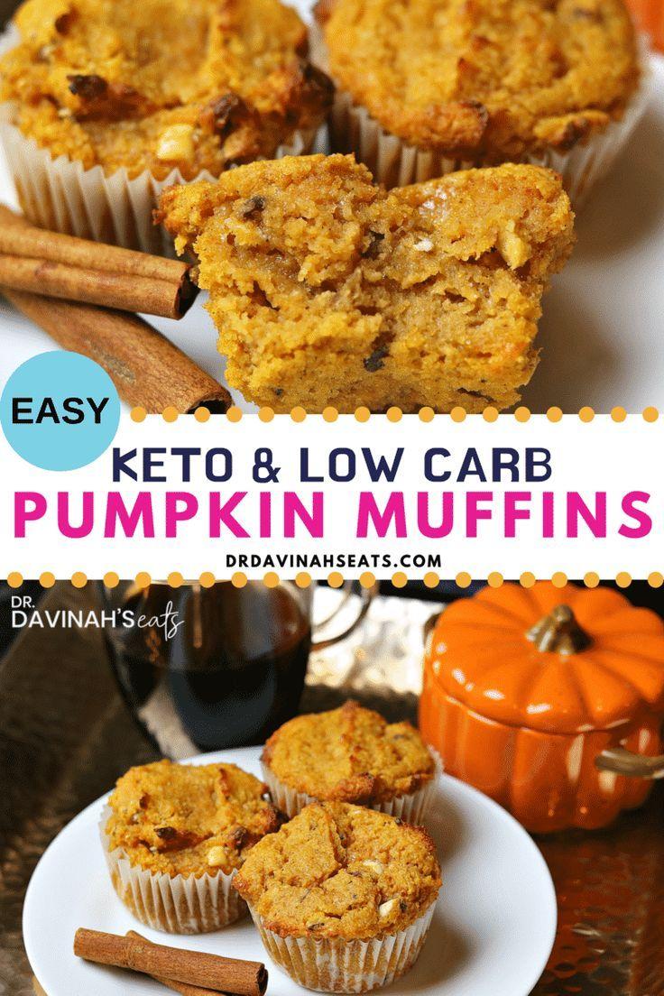 Low Carb & Keto Pumpkin Spice Muffins Recipe   Dr. Davinah's Eats
