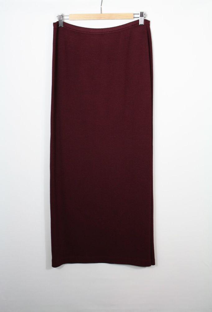 c7812c180 St. John Evening Santana Knit Garnet Purple Long Straight Maxi Skirt Size 6  New #StJohn #Maxi