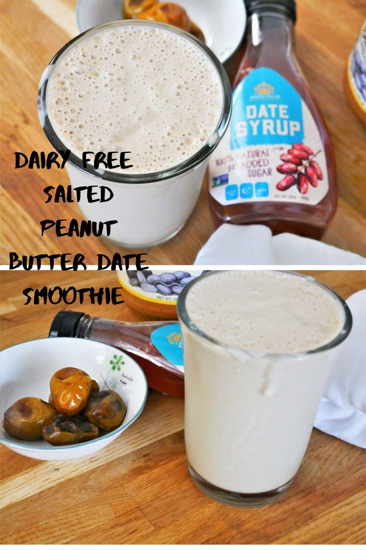 This Salted Peanut Butter Date Smoothie is dairy free, creamy, nutty and delicio... - #Butter #Creamy #dairy #Date #delicio #free #nutty #Peanut #Salted #Smoothie #dairyfreesmoothie