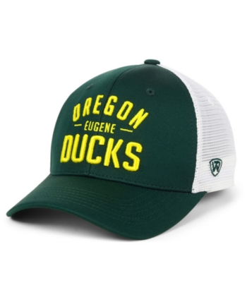 dbb95aa577d Top of the World Oregon Ducks Trainer Mesh Snapback Cap - Green/White  Adjustable