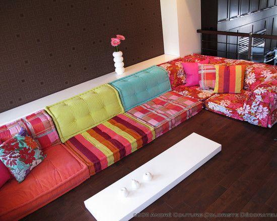 Top Bohemian Living Room: Roche Bobois Mah Jong Modular Sofa | Modular  SS13
