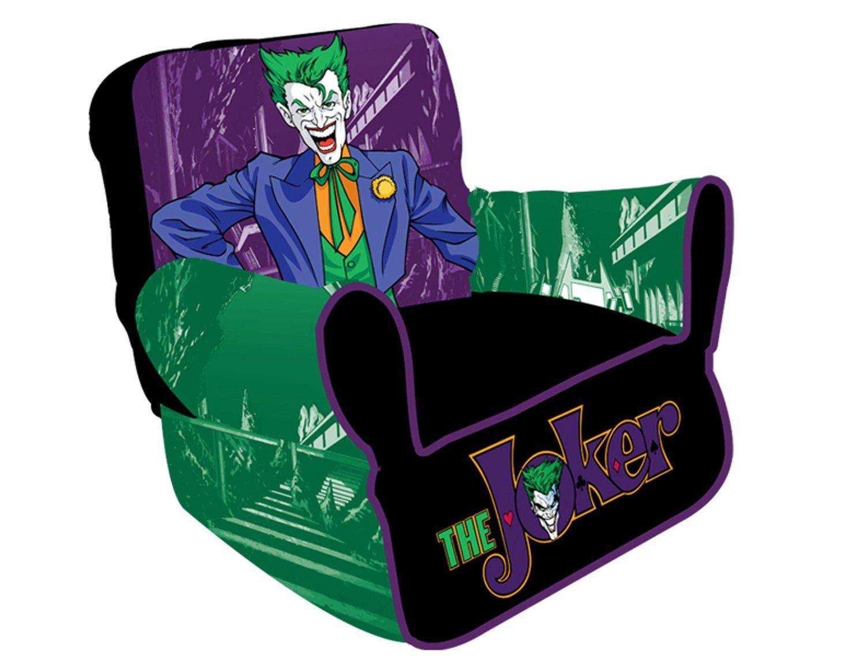 superhero bean bag chair used pedicure joker batman villain everything