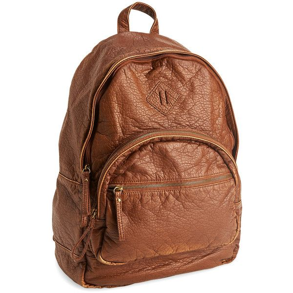 fcf0e1ee24cd Aeropostale Faux Leather Backpack ( 35) ❤ liked on Polyvore featuring bags