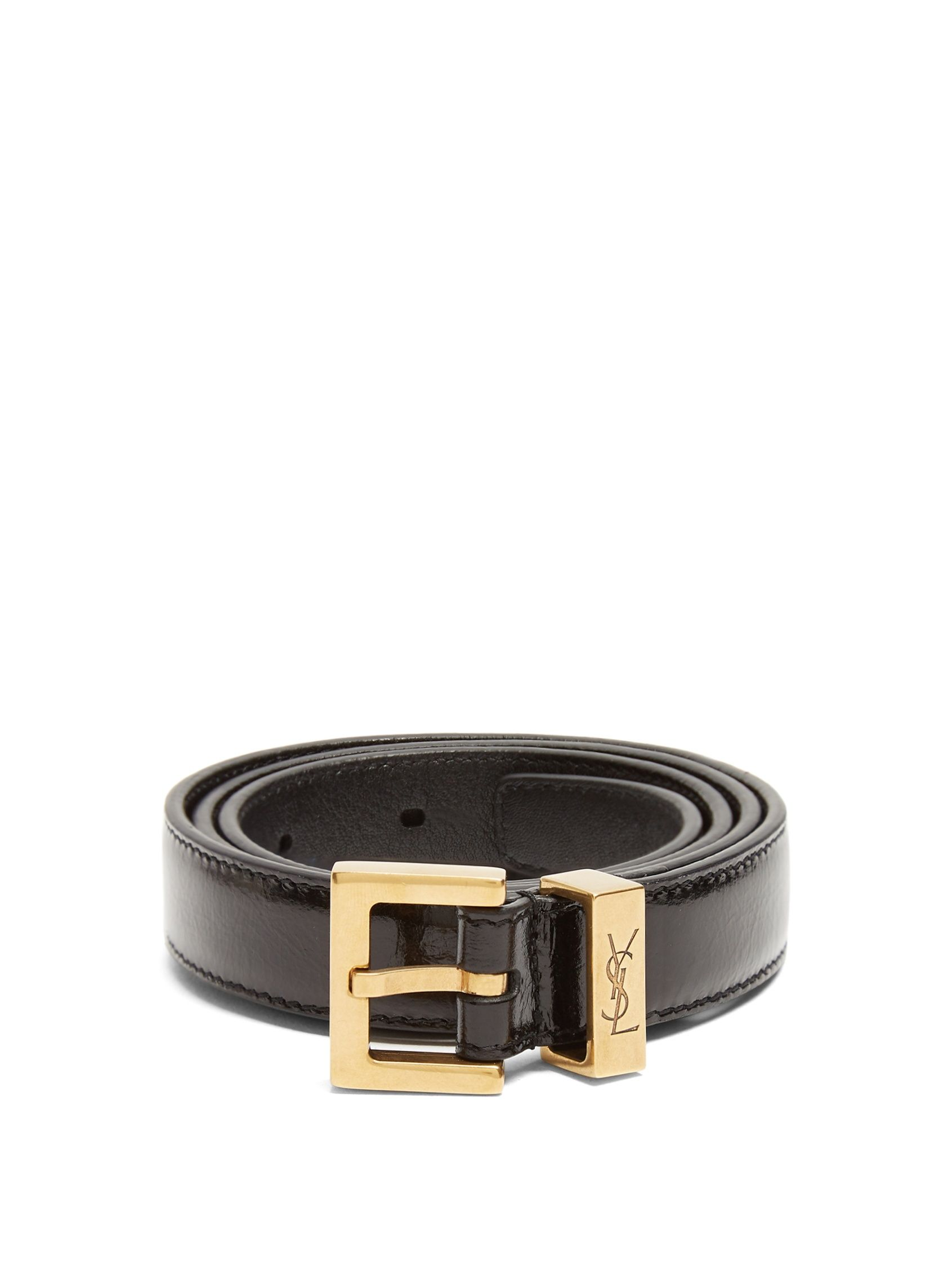 eee664aaee0 Click here to buy Saint Laurent Monogram Passant leather belt at  MATCHESFASHION.COM