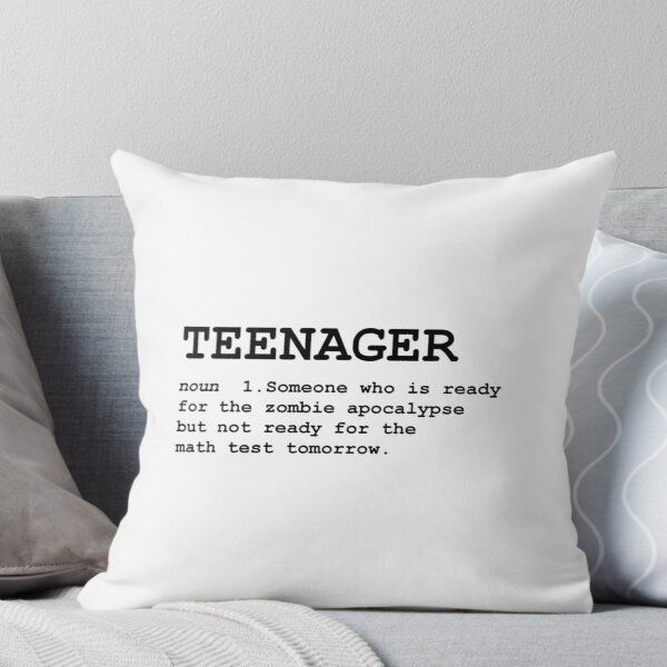 Teenager Definition Throw Pillow by TheBestStore