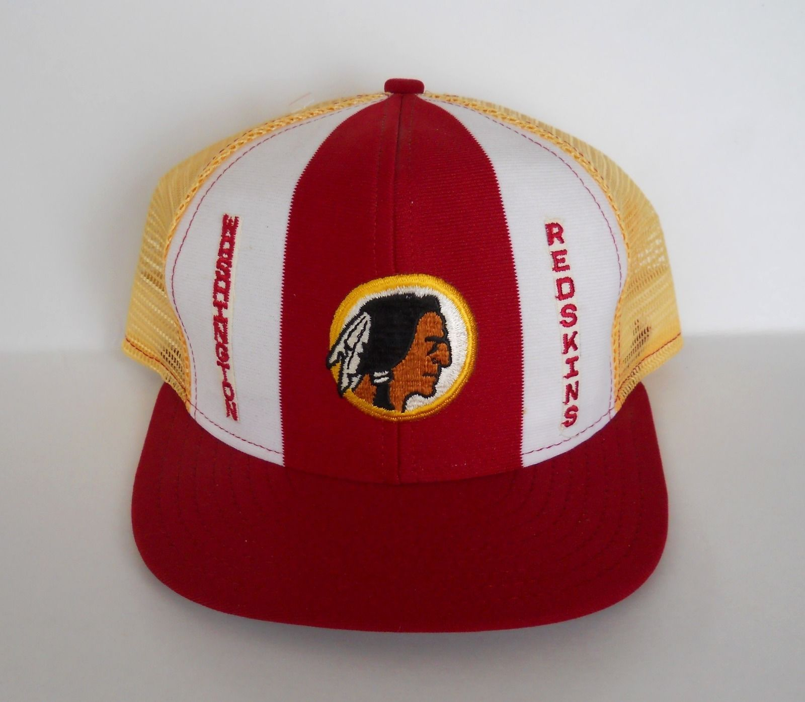 Vintage Washington Redskins Snapback AJD Lucky Stripes Mesh Trucker Hat 80s  NWOT 53f3fdac5