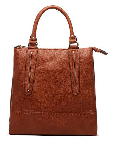 Another great find on #zulily! Brown Cosmo Tote #zulilyfinds
