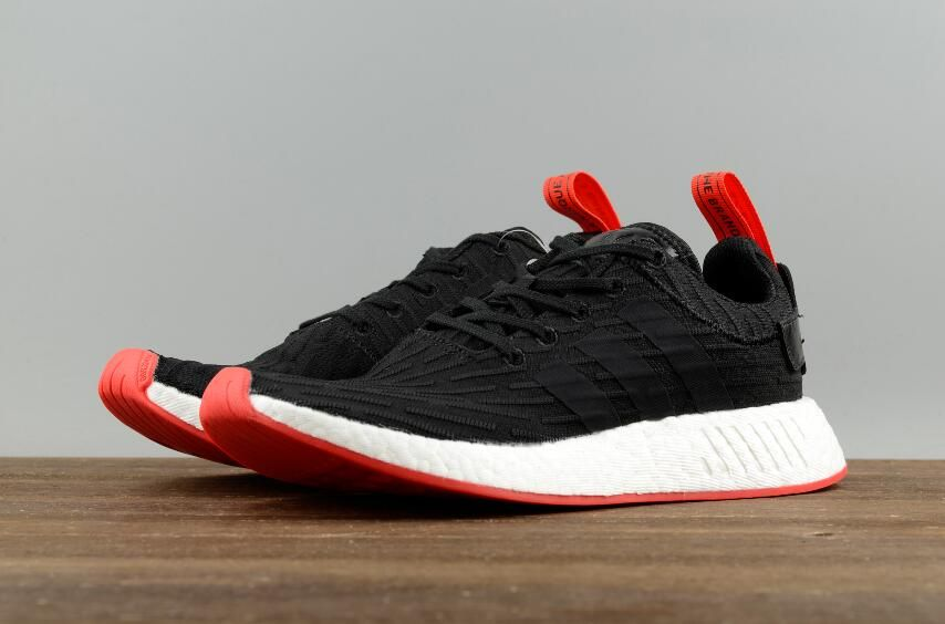 purchase cheap 33b4d 4ca8f Adidas Originals NMD R2 PK Black Red BA7252 Men Running ...