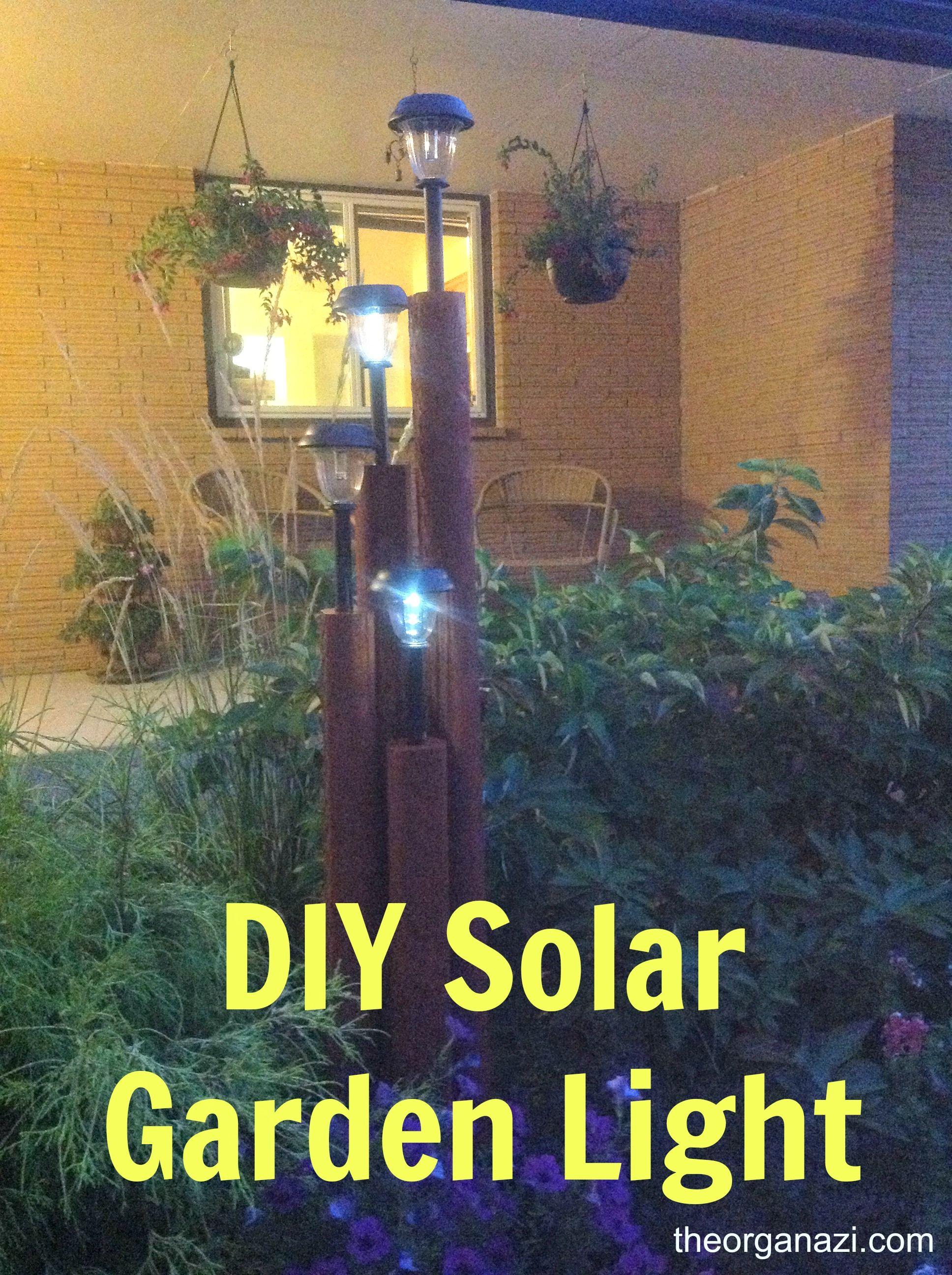 Homemade Solar Lights Diy Solar Garden Light Timbers Pinterest Diy Solar Solar