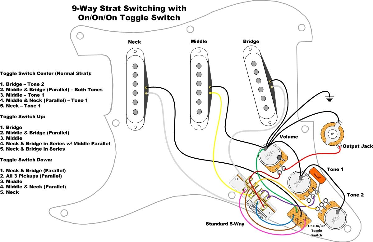 Wiring An Import 5 Way Switch With Images Guitar Tech Guitar