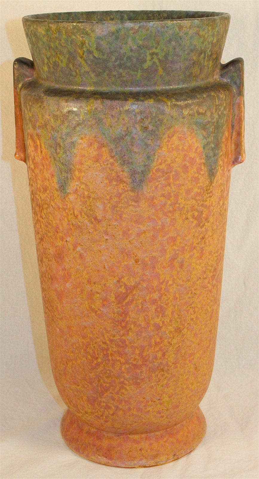 Roseville Pottery Carnelian II Red Vase 448-15 from Just Art Pottery