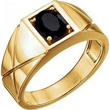 14kt Gold Onyx Men's Ring