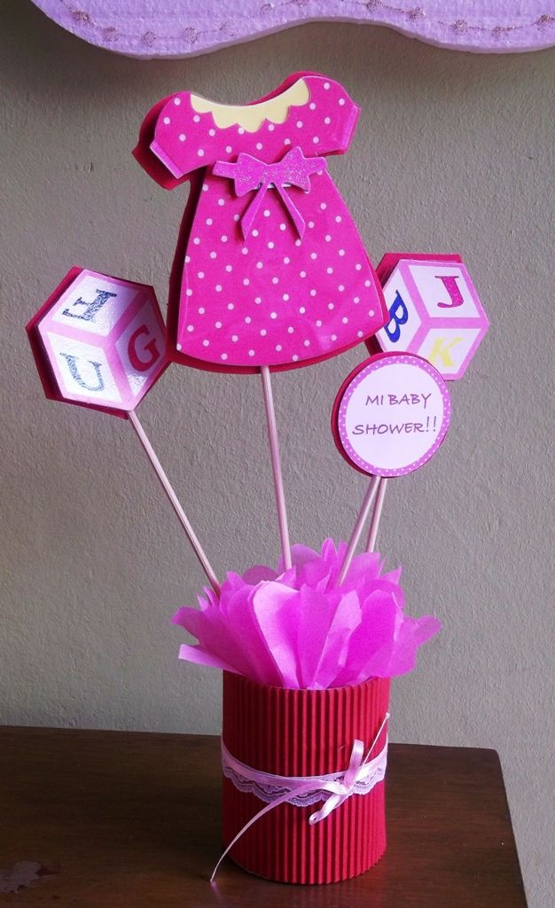 Sencillo para un baby shower ideas para baby shower - Decoracion de baby shower nina ...