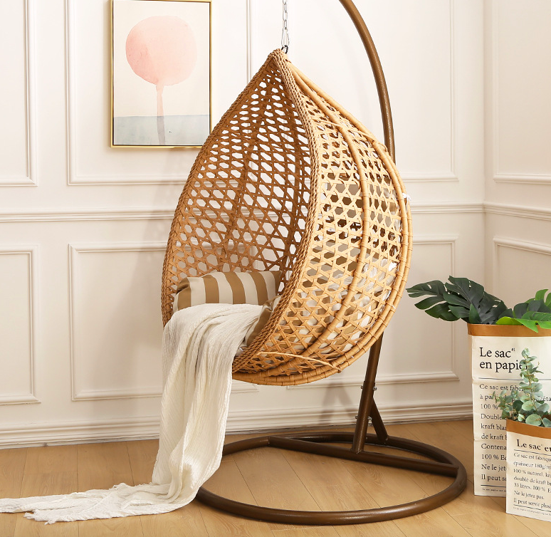 Snuggle Up And Enjoy The Outdoors Indoors In Our Victor Verace Rattan Cocoon Chair This Striking Design Offers A Gre Hanging Rattan Hanging Rattan Chair Chair