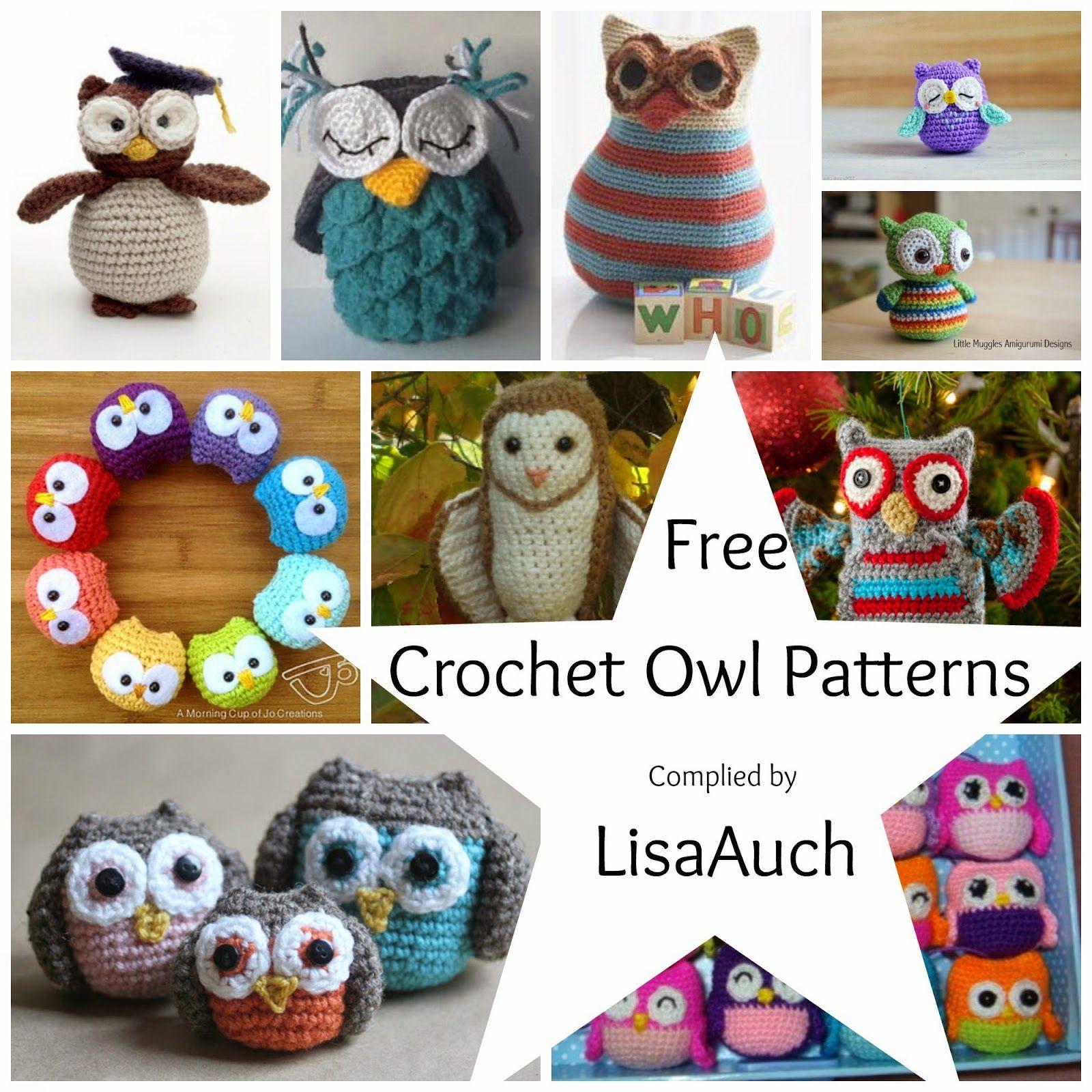 Free Crochet Owl Patterns (FREE Crochet Patterns) | Pinterest | Owl ...