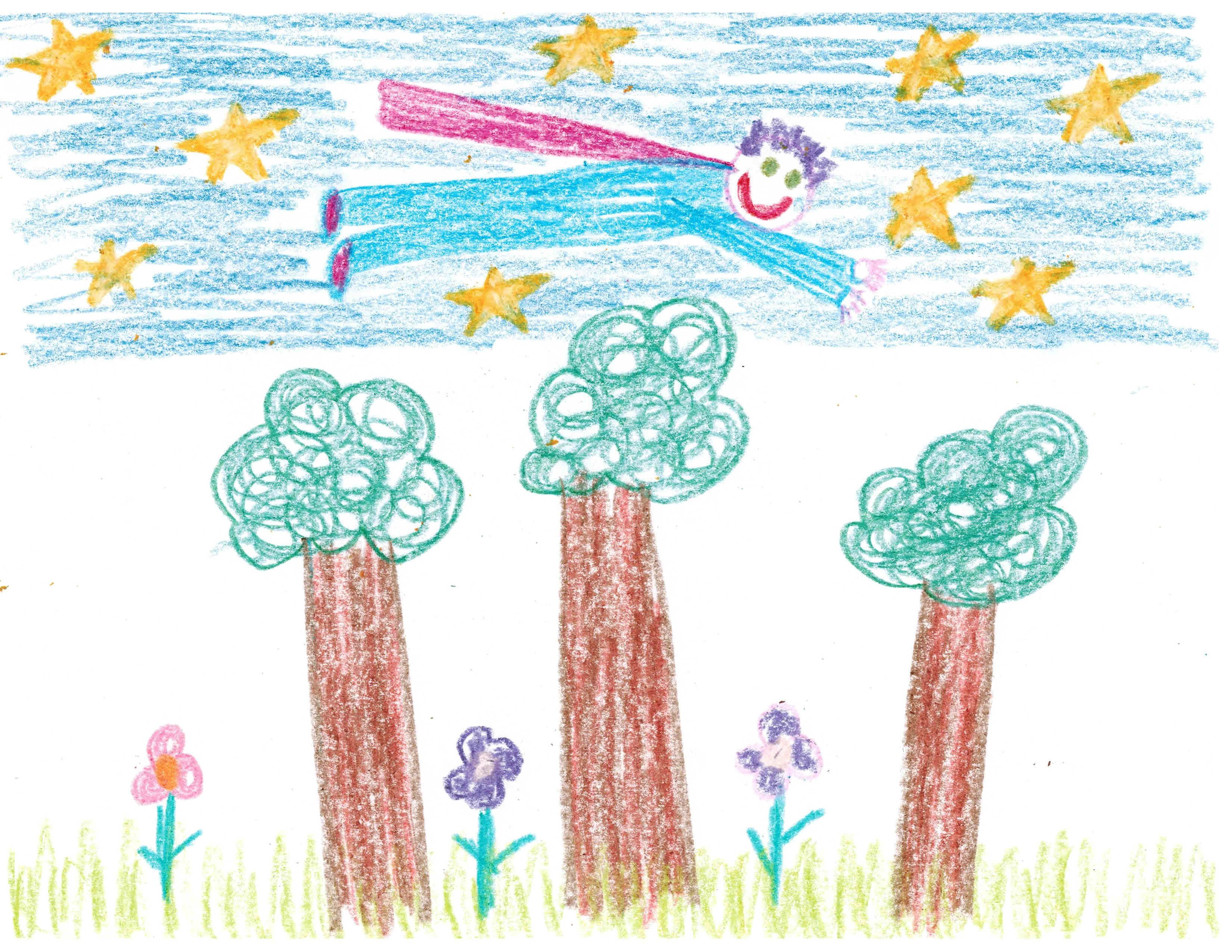 Child-Flying-Artwork   Crayon drawings, Childrens drawings ...