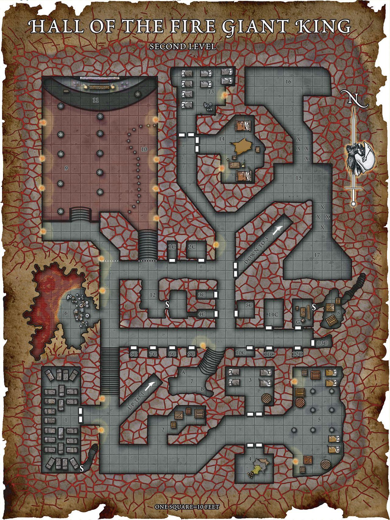 Fantasy Maps Robert Lazzaretti Hall Of Fire Giant