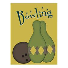 Image result for bowling ball and pins retro images