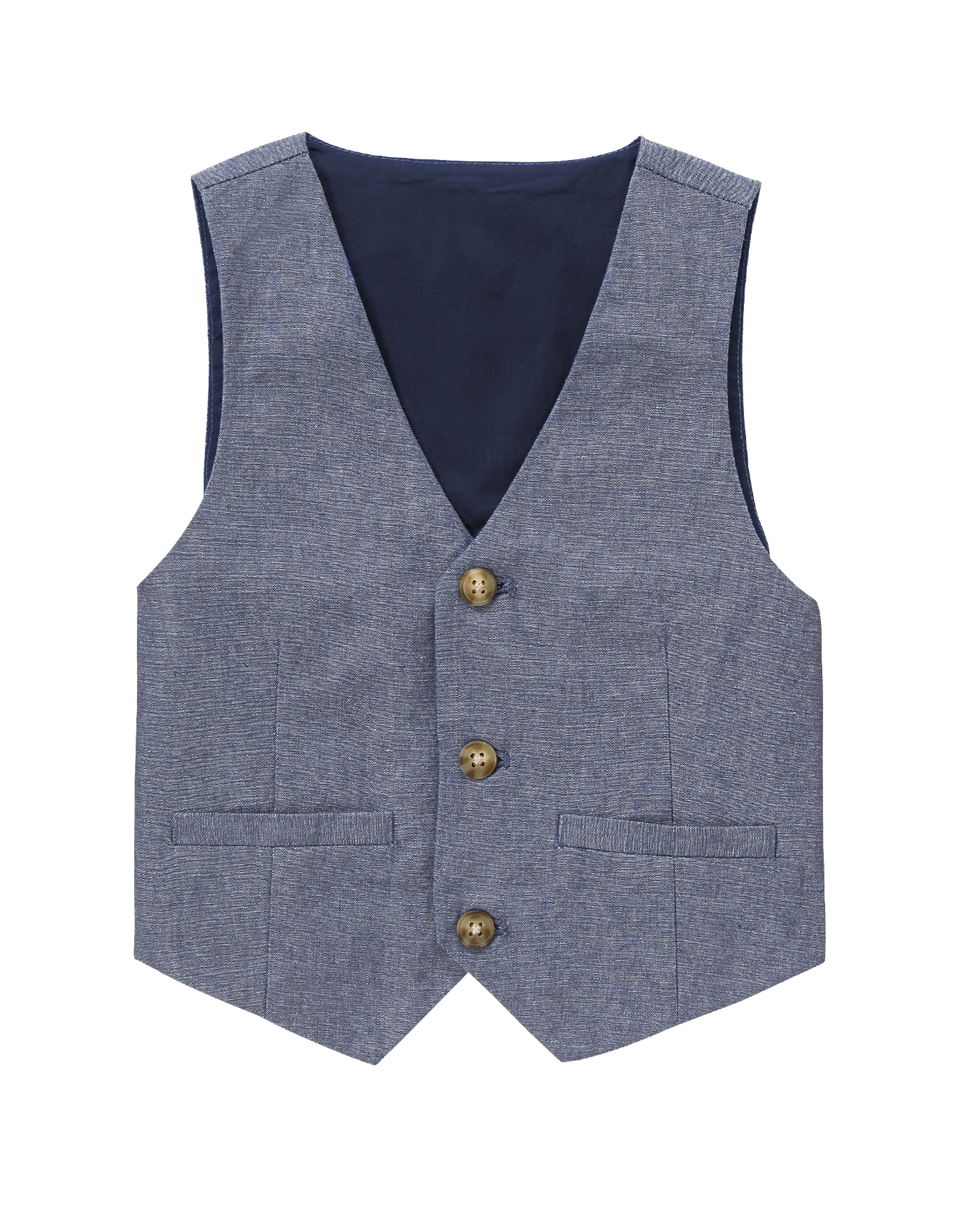 Gymboree Boys Chambray Vest