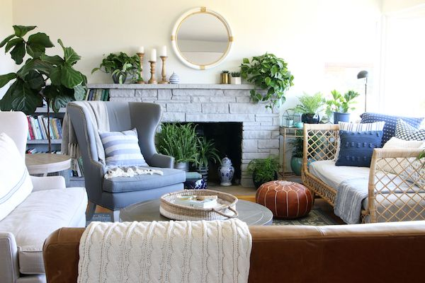Our Rattan Daybed {Cozy Corner with a View | Daybed, Rattan and ...