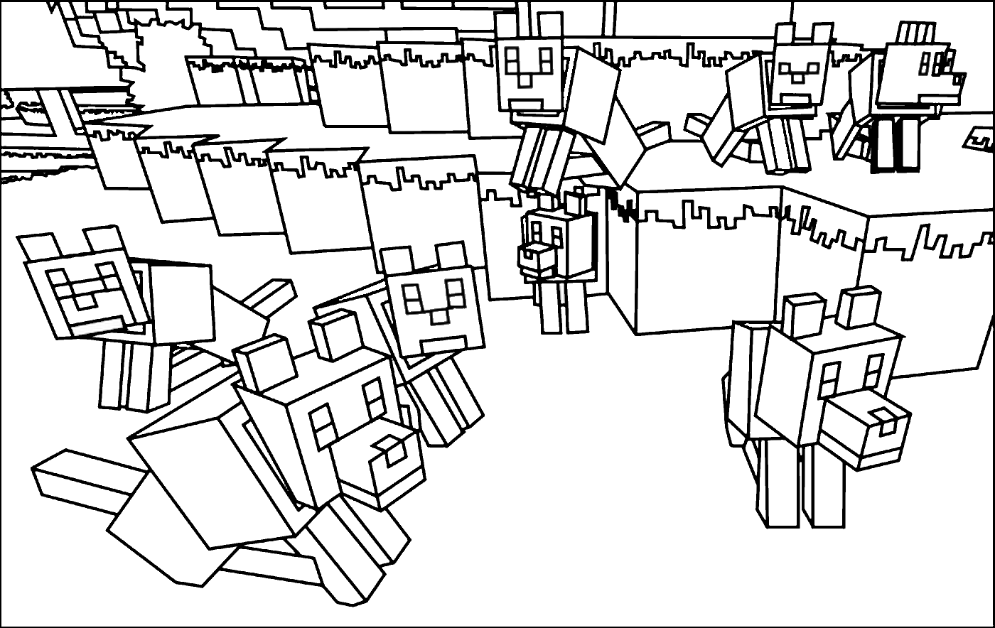 Coloriage A Imprimer Minecraft