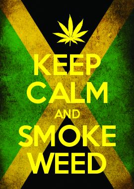 Keep Calm And Smoke Weed Bong Medical Kush Thc Pipe Pot