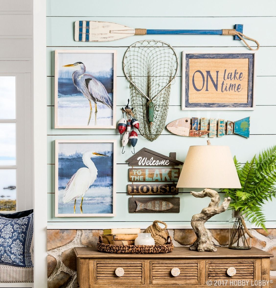 Channel summertime vibes with lake-themed decor!  River house