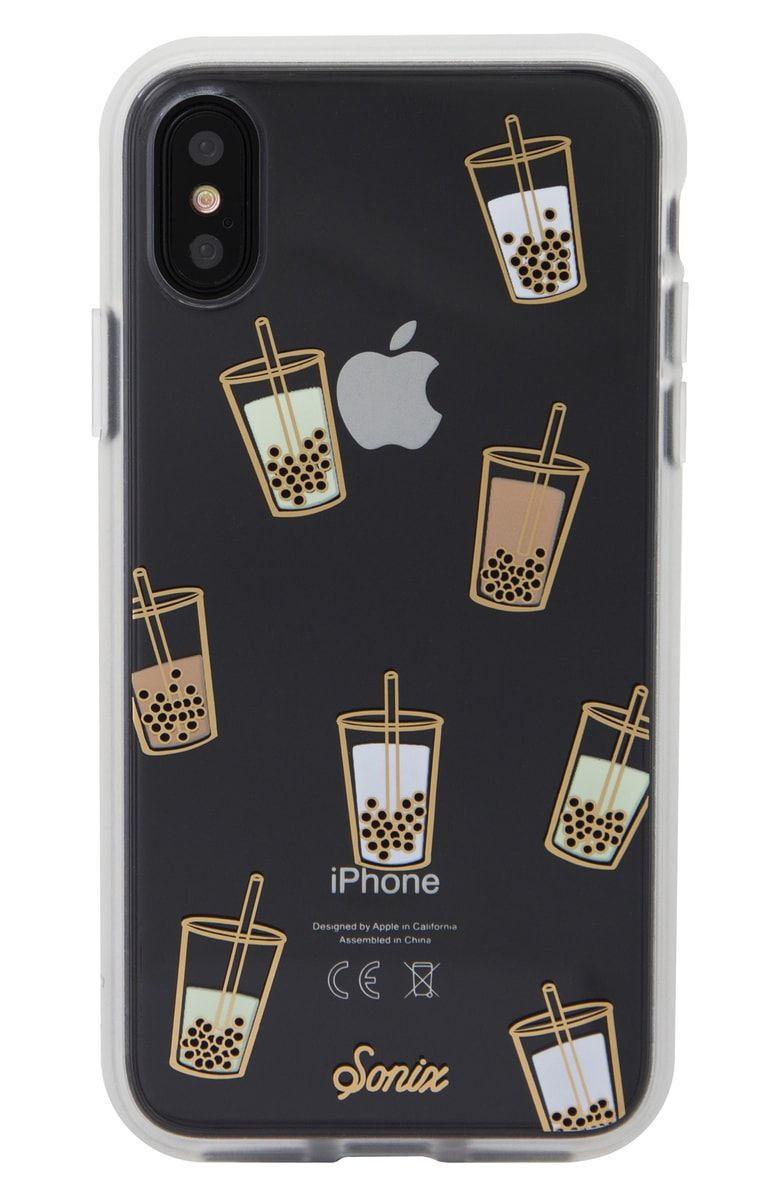 finest selection 0a7d5 50152 Sonix Boba iPhone X/Xs, XR & X Max Case. Boba-tea drinks float ...
