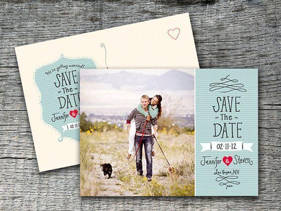 Save the Date en forma de postal Invitaciones de boda originales - invitaciones para boda originales