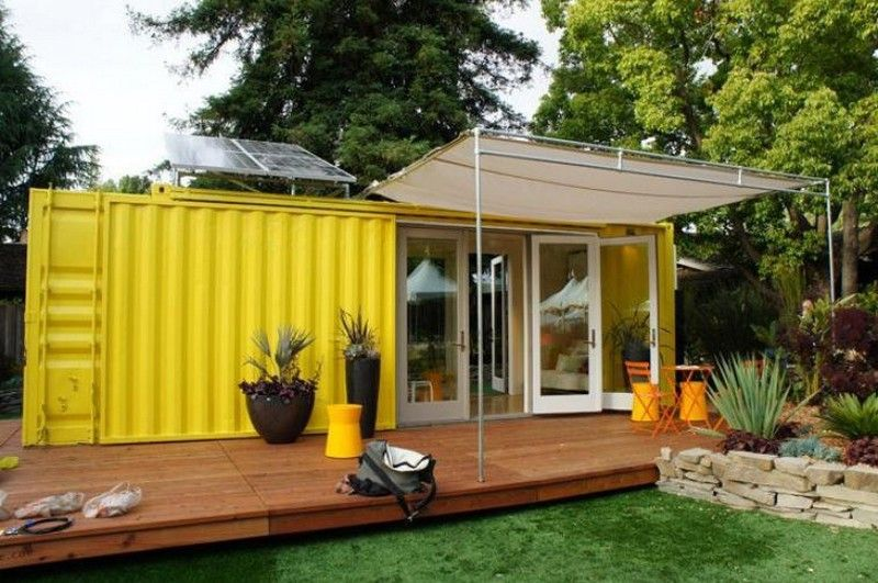 entertainment garden-shed | Container house plans, Building a container home, Container house