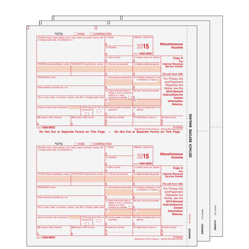 Super Forms MISCS305 1099MISC Miscellaneous