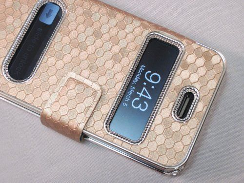Gold Silver Luxury Luxurious Synthetic Leather Magnetic Flip Case Cover Protector Skin for iPhone 4 4G 4S:Amazon:Cell Phones & Accessories