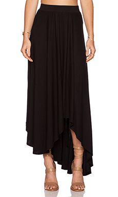 krisa Full Maxi Skirt in Black
