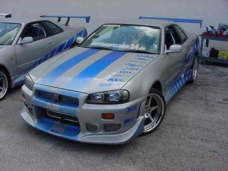 Brian O'Connor's 1999 Nissan Skyline GT-R R34 (from 2 Fast 2 Furious ...