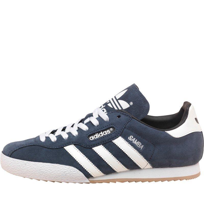 Details zu Adidas Original HERREN Samba Super Turnschuhe Schwarz Retro Classic Lederschuhe