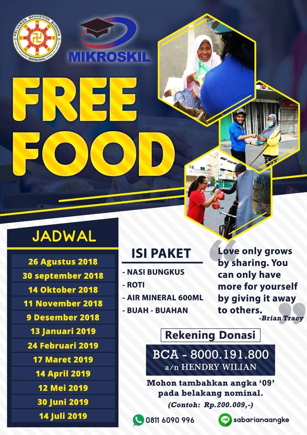 KMB Mikroskil kembali mengumumkan jadwal Free Food bulanan