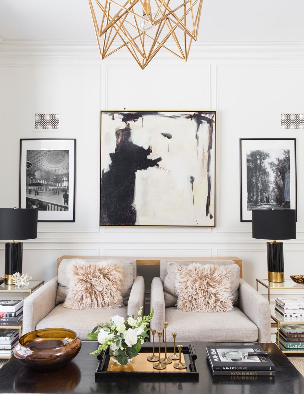 How To Get A Luxury Living Room Pt 1 Golden Lighting: This Designer's Parisian-Inspired Family Home Will Make You Swoon