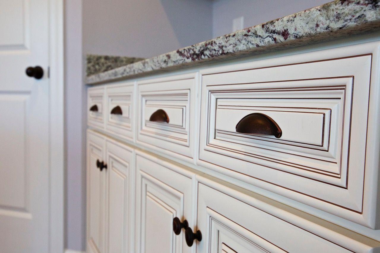 Savannah Vintage White Cabinet Line Bella Supply