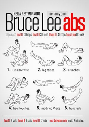 Bruce Lee Abs Workout Seriously Intense Workouts Lots More Equestrian Exercises