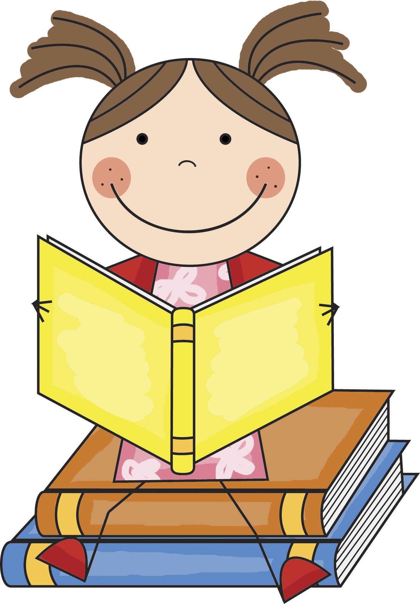 girl reading clip art | reading centers | ღ❣kid's~stuff❣ღ