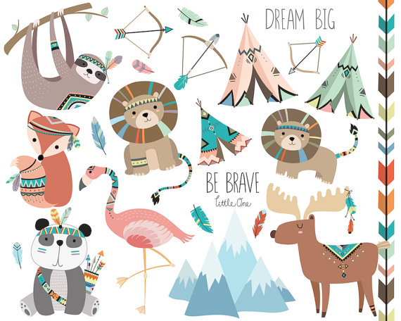 Tribal Animals Clipart Vol 3 Set Of 23 Vector Png Jpg Files Cute Woodland Clip Art Animal Clipart Woodland Nursery Tribal Art In 2021 Tribal Animals Animal Clipart Tribal Art