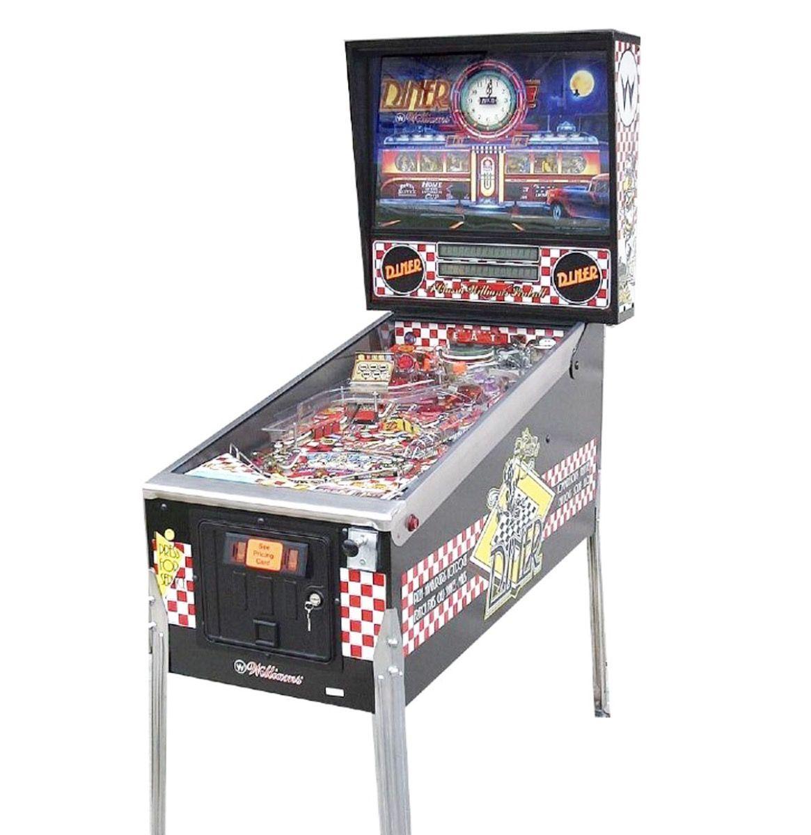 Diner pinball machine by Williams 1990 Pinball, Pinball